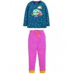 "Pyjama ""Navigator Long John PJs, Steely Blue Star / Caravan"" - coton bio"