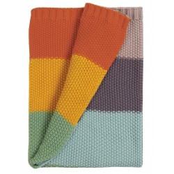 "Couverture ""Cuddle Up Blanket, Soft Rainbow"" - coton bio"