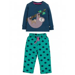 "Pyjama ""Lou PJs, Space Blue / Sloth"" - coton bio"
