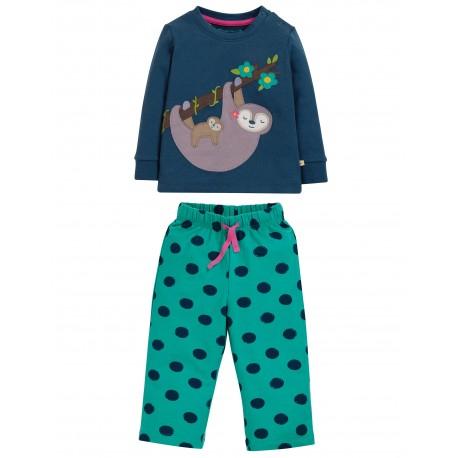 "Pyjama ""Lou PJs, Space Blue / Sloth"" - coton bio"