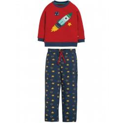 "Pyjama ""Leon PJs, Tango Red / Rocket"" - coton bio"