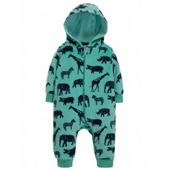 """Combinaison bébé """"Velour Snuggle Suit, Savannah"""" - coton bio"""