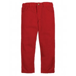 "Pantalon velours ""Callum Slim Cords, Tango Red"" - coton bio"