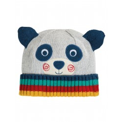 "Bonnet ""Friendly Face Knitted Hat, Panda"" - coton bio"