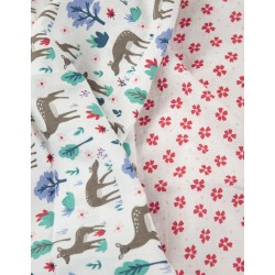 "Assortiment de 2 langes Tetra ""Lovely 2 Pack Muslin, Deer Multipack"" - coton bio"
