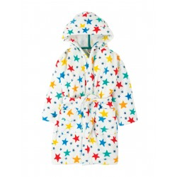 "Peignoir enfant ""Toasty Towelling Robe, Multi Star"" - coton bio"