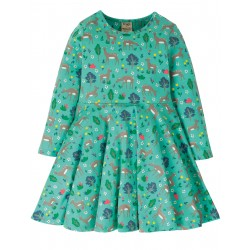 "Robe ""Sofia Skater Dress, Pacific Aqua Sika Deer"" - coton bio"