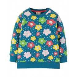"Sweat ""Jude Jumper, Steely Blue Floral Spot"" - coton bio"