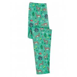 """Legging """"Libby Printed Legging, Pacific Aqua Sika Deer"""" - coton bio"""