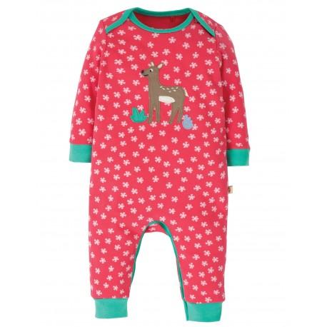 "Pyjama bébé ""Charlie Romper, Watermelon Cherry Blossom / Deer"" - coton bio"