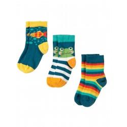 "Chaussettes ""Little Socks 3 Pack, Bike Multipack"" - coton bio"