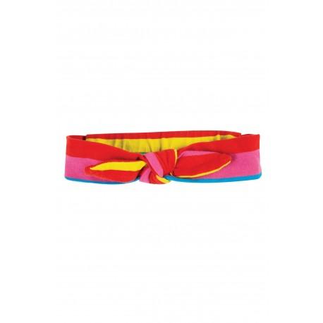 "Bandeau ""Astrid Headband, Flamingo Multi Stripe"" - coton bio"