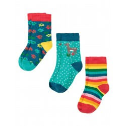 "Chaussettes ""Susie Socks 3 Pack, Deer Multipack"" - coton bio"