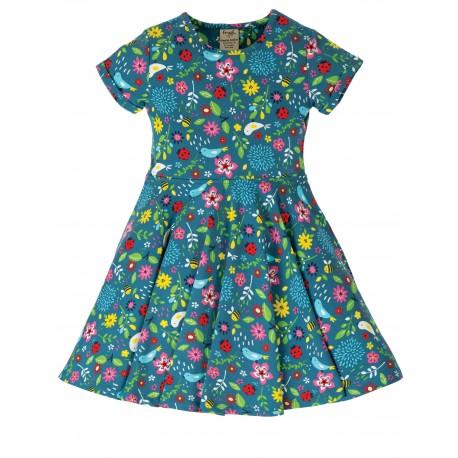 "Robe ""Spring Skater Dress, Garden Friends"" - coton bio"