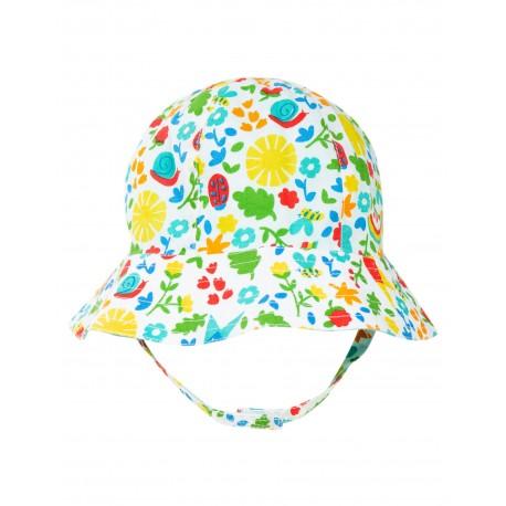 """Chapeau bébé réversible """"Reversible Ditsy Hat, Allotment Days"""" - coton bio"""
