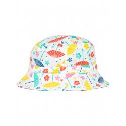 """Chapeau réversible """"Hattie Reversible Hat, Soft White Parasols"""" - coton bio"""
