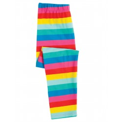 "Legging ""Libby Striped Leggings, Flamingo Multi Stripe"" - coton bio"