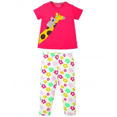 "Pyjama ""Lila PJs, Watermelon / Giraffe"" - coton bio"