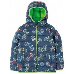 "Veste ""Toasty Trail Jacket, Indigo Rainbow Roads"" - coton bio"