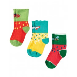 "Assortiment de 3 paires de chaussettes ""Little Tooty Socks 3 Pack, Fruit Multipack"" - coton bio"