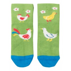 "Chaussettes ""Perfect Little Pair Socks, Kiwi / Chicken"" - coton bio"