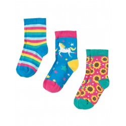 "Chaussettes ""Susie Socks 3 Pack, Unicorn Multipack"" - coton bio"
