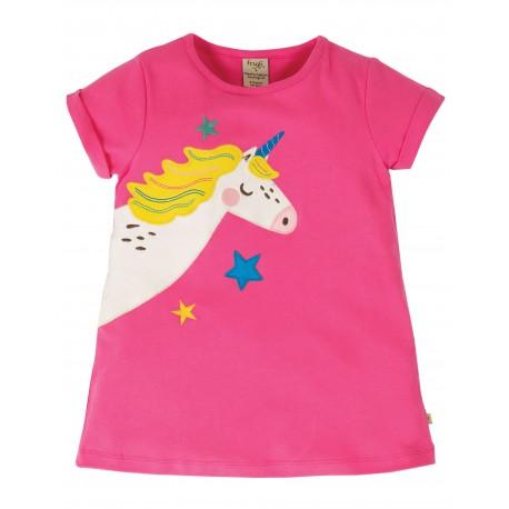 """T-shirt """"Lizzie Applique Top, Flamingo / Unicorn"""" - coton bio"""