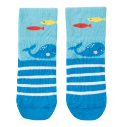 "Chaussettes ""Perfect Little Pair Socks, Bright Sky / Whale"" - coton bio"