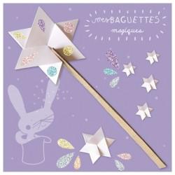 6 Baguettes magiques à colorier