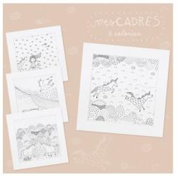 """Kit créatif """"Mes cadres licornes à colorier"""""""