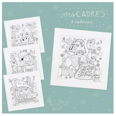 """Kit créatif """"Mes cadres pirates à colorier"""""""