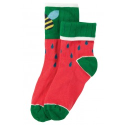 "Chaussettes adultes ""Tooty Sock, Watermelon"" - coton bio"