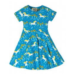 "Robe ""Spring Skater Dress, Unicorn Skates"" - coton bio"