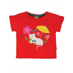 "T-shirt ""Sophia Slub T-shirt, Koi Red Cat"" - coton bio"