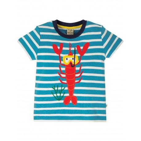 "T-shirt ""Sid Applique T-shirt, Motosu Blue Stripe"" - coton bio"