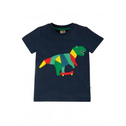 "T-shirt ""Stanley Applique T-shirt, Indigo Dino"" - coton bio"