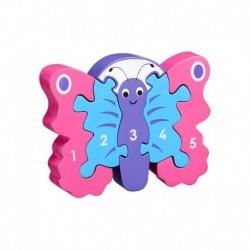 """Puzzle chiffre 1-5 """"Papillon"""""""