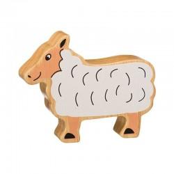 Mouton en bois naturel peint