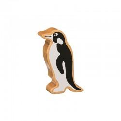 Pingouin en bois naturel peint