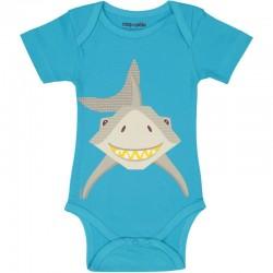 "Body manches courtes ""Requin"" - coton bio"
