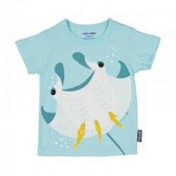 """T-shirt enfant manches courtes """"Raie manta"""" - coton bio"""
