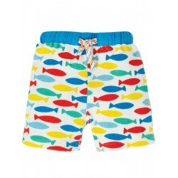 "Short bébé ""Little Towelling Shorts, Rainbow Fish"" - coton bio"