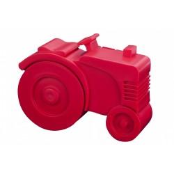 "Boîte à tartines ""Tracteur"" - rouge"