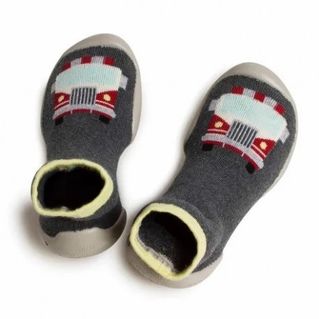 """Chaussons """"Fire Truck"""" - Made in France"""
