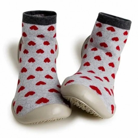 """Chaussons """"Hearts"""" - Made in France"""