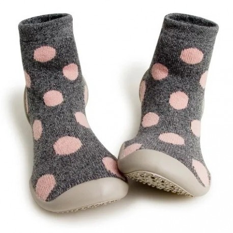 "Chaussons en cachemire et laine ""Snow Balls"" - Made in France"