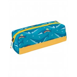 "Plumier ""Crafty Pencil Case, Rainbow Whales"" - polyester recyclé"