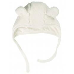 """Bonnet bébé """"Baa Baa Bonnet, Soft White"""""""
