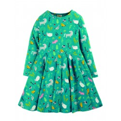 "Robe ""Sofia Skater Dress, Farmyard"" - coton bio"