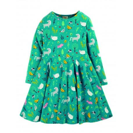 "Robe ""Sofia Skater Dress, Farmyard"" - coton bio"